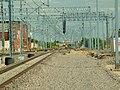 Pszczółki, nádraží, rekonstrukce trati směr Bydgoszcz.JPG