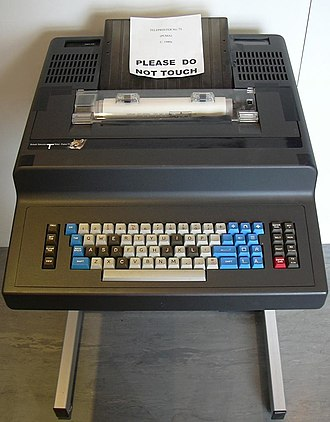 "Telex - A late-model British Telecom ""Puma"" telex machine of the 1980s"