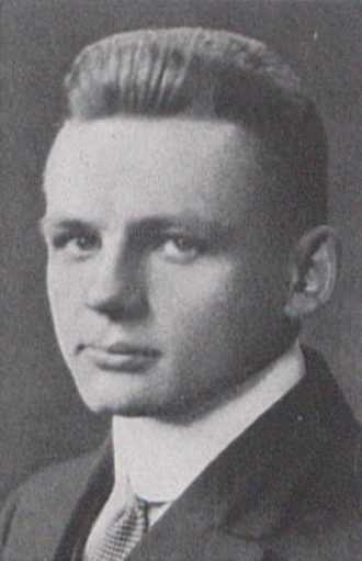 Punk Berryman - Berryman pictured in La Vie 1915, Penn State yearbook