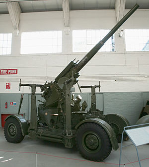 85th (Tees) Heavy Anti-Aircraft Regiment, Royal Artillery - 3.7-inch mobile HAA gun preserved at Imperial War Museum Duxford.