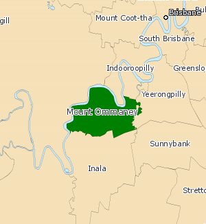 Electoral district of Mount Ommaney - 2008 map of Mount Ommaney