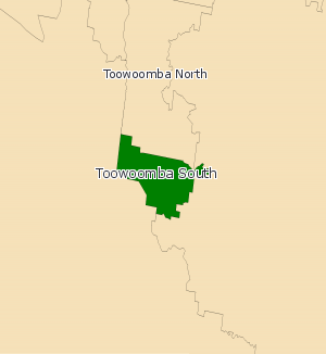 Electoral district of Toowoomba South - Toowoomba South electoral map from 2008
