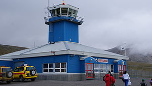 Qaarsut Airport - ATC tower and 'mislabeled' terminal