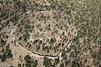 Kingdom of Israel (united monarchy) - Aerial view of Khirbet Qeiyafa.