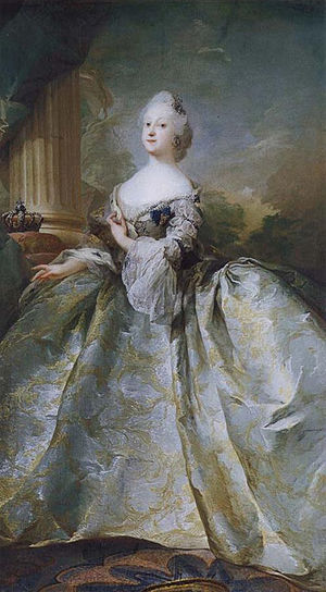 Louise of Great Britain - The Queen portrayed the year of her death, by court painter C.G. Pilo