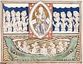 Queen Mary Apocalypse - BL Royal MS 19 B XV f. 40 God worshippers, and souls.jpg