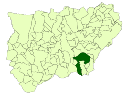 Situación de Quesada con respecto a la provincia de Jaén