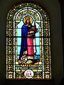 Quinsac (Dordogne) église vitrail.JPG