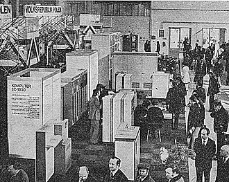 History of computer hardware in Soviet Bloc countries - ES 1030 at the Leipziger Messe, 1975