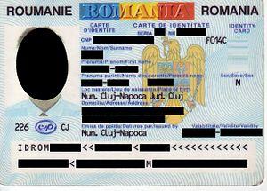 Romanian identity card - Image: ROM Carte de identitate