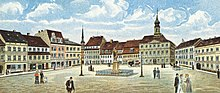 Radeberg marketplace around 1900.jpg