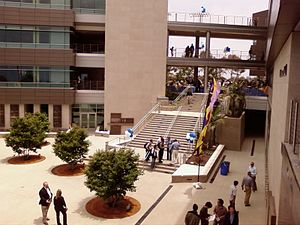 Rady School of Management - The courtyard in the school's center
