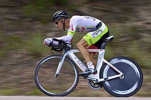 Colombian cyclist Rafel Infantino, in the 2011...