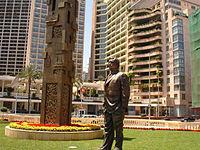 الحديقة والنصب التذكاري لرفيق الحريري.