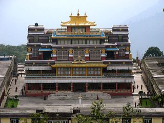 Ralang Monastery building in India