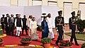Ram Nath Kovind, the Vice President, Shri M. Venkaiah Naidu, the Prime Minister, Shri Narendra Modi, the Speaker, Lok Sabha, Smt. Sumitra Mahajan arrives at Parliament on beginning of Budget Session of Parliament.jpg