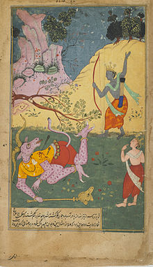 Rama strikes down Khara with an arrow.jpg