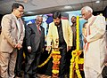 Ramdas Athawale lighting the lamp at the Global Seminar on Dr. B.R. Ambedkar and Constitutionalism.jpg