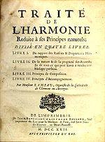 Traité de l harmonie