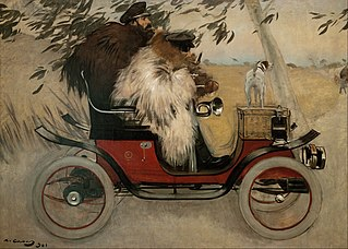 Ramon Casas and Pere Romeu in an Automobile