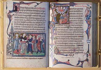 Ramsey Abbey - This Ramsey Psalter of c. 1310 was a gift to the abbot from the cellarer (facsimile)