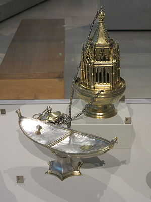 Ramsey Abbey - Ramsey Abbey Censer and Incense Boat, early to mid 14th-century, in the V&A Museum, London