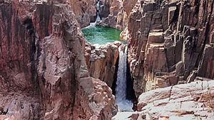 Raneh Falls - Raneh fall formed by Ken river