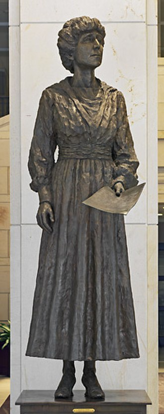 Jeannette Rankin - Rankin's monument in the National Statuary Hall, Washington, D.C.