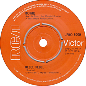 Rebel Rebel - Image: Rebel Rebel by David Bowie UK vinyl pressing