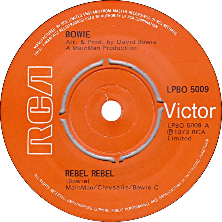 Rebel Rebel by David Bowie UK vinyl pressing