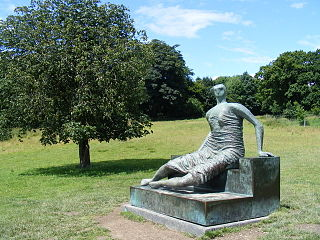 <i>Draped Seated Woman 1957–58</i> sculpture series by Henry Moore
