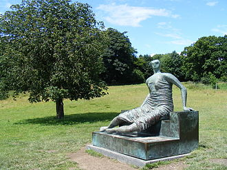 Draped Seated Woman 1957–58 - Image: Reclining Figure at Yorkshire Sculpture Park geograph.org.uk 519117