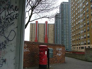 Red Road Flats - Graffiti around the flats