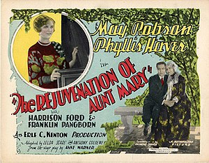The Rejuvenation of Aunt Mary - lobby card