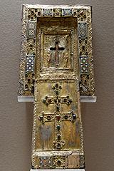 Tableau-reliquaire de la Vraie Croix et couvercle à glissière