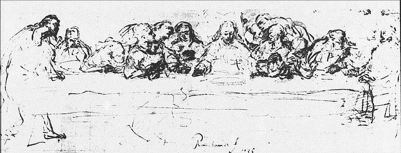 File:Rembrandt The Last Supper, after Leonardo da Vinci (Berlin).jpg