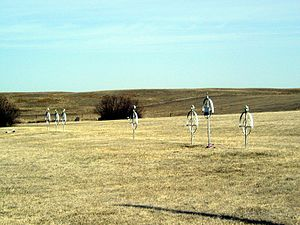 Zion Lutheran Cemetery, Wrought-Iron Cross Site - Image: Rennich Crosses
