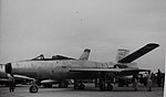 Republic XF-91 Thunderceptor Republic XF-91, 46-681 on display at Edwards Air Force Base, 1950's. The second prototype, 46-681, had an engine failure during takeoff from Edwards AFB in the summer of (16148468640).jpg