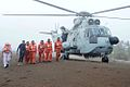 Rescued crew members of MV Coastal Pride after landing at Umargaon beach.jpg