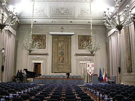 Rectorate's auditorium of University of Florence Rettorato firenze, aula magna 02.JPG
