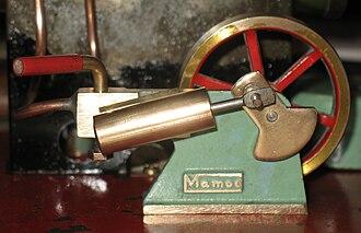 Oscillating cylinder steam engine - A simple oscillating cylinder engine, part of a Mamod SE2 working steam model
