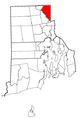 Rhode Island Municipalities Cumberland Highlighted.png