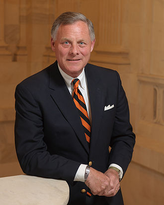 Senior Senator Burr Richard Burr official portrait.jpg