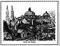Richard Carl Wagner Stift Klosterneuburg Türme und Kuppel 1924 dgE.jpg