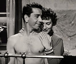 Richard Conte en Valentina Cortese in Thieves' Highway