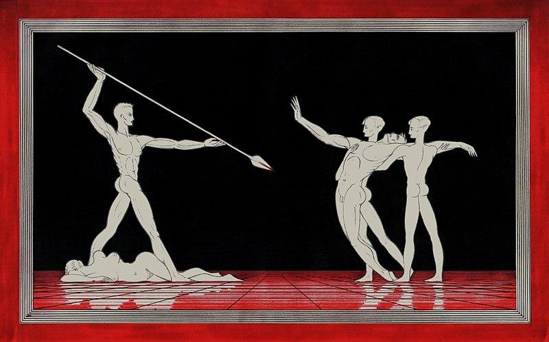 File:Richard Wagner, Parsifal, Nur eine Waffe taugt (Arnaldo Dell'Ira 1903-1943).jpg