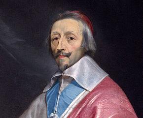 Richelieu (detalle), pintura de Philippe de Champaigne