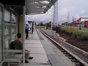 Richmond Heights station - Image: Richmond Heights Metrolink station, looking north