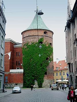 Powder Tower, Riga - Powder Tower today. Now part of the Latvian War museum.