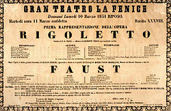 Poster announcing the premiere